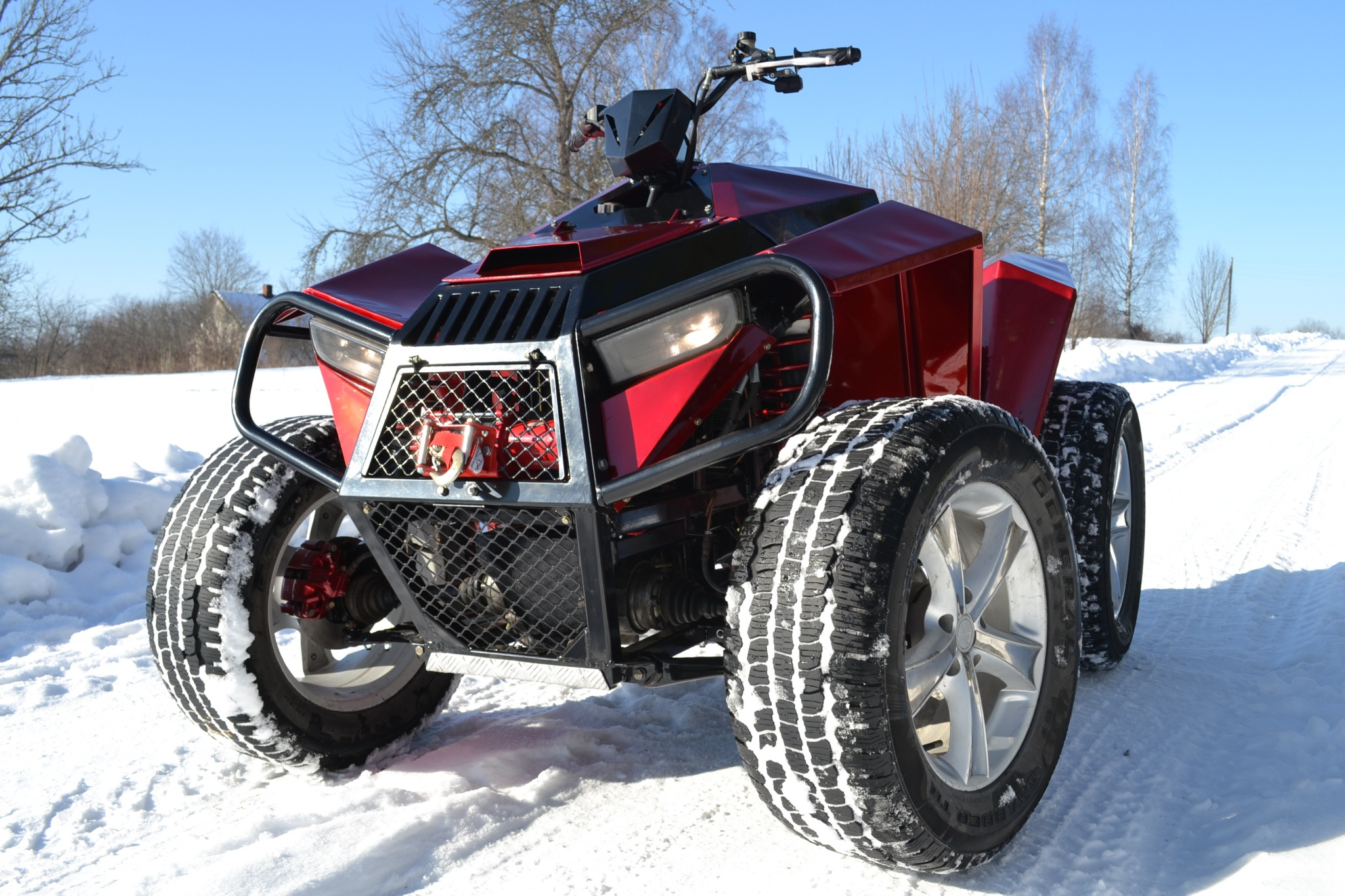 Home made quad with recycled Audi, VW parts - A8 Parts Forum